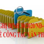 Nghị định số 30/2020/NĐ-CP về công tác văn thư